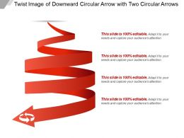 Twist Image Of Downward Circular Arrow With Two Circular Arrows