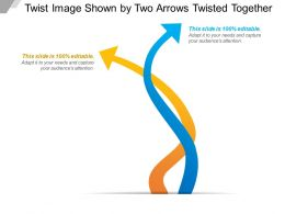 Twist Image Shown By Two Arrows Twisted Together