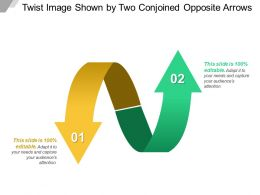 Twist Image Shown By Two Conjoined Opposite Arrows