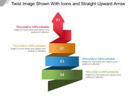 64910925 Style Circular Zig-Zag 4 Piece Powerpoint Presentation Diagram Infographic Slide