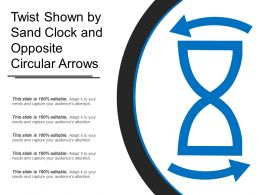 Twist Shown By Sand Clock And Opposite Circular Arrows