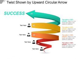 Twist Shown By Upward Circular Arrow