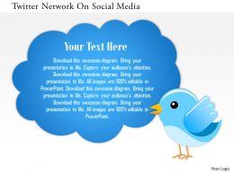 Twitter Network On Social Media Powerpoint Template