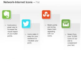 Twitter Stumbleupon Mails Evernote Ppt Icons Graphics