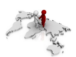 two_3d_men_shaking_hands_over_the_world_map_stock_photo_Slide01