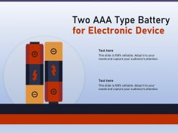 Two AAA Type Battery For Electronic Device