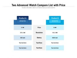 Two Advanced Watch Compare List With Price