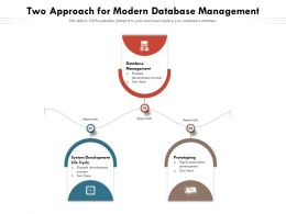 Two Approach For Modern Database Management