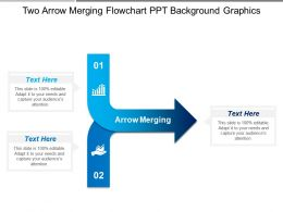 Two Arrow Merging Flowchart Ppt Background Graphics