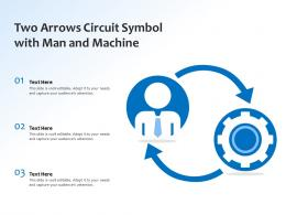Two Arrows Circuit Symbol With Man And Machine