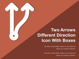 Two Arrows Different Direction Icon With Boxes