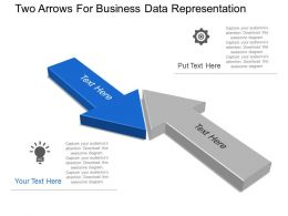 Two Arrows For Business Data Representation Powerpoint Template Slide