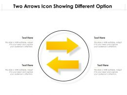 Two Arrows Icon Showing Different Option