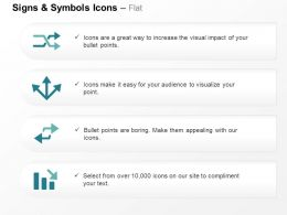 two_arrows_three_directional_arrows_bar_graph_business_growth_ppt_icons_graphics_Slide01