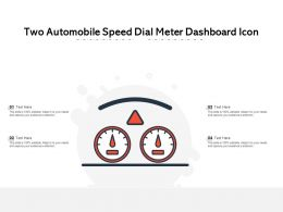 Two Automobile Speed Dial Meter Dashboard Icon