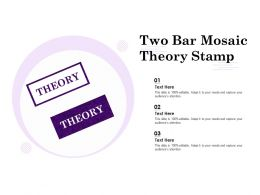 Two Bar Mosaic Theory Stamp