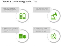 Two Battery Cells Tools Crude Oil Windmill Ppt Icons Graphics