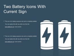 Two Battery Icons With Current Sign