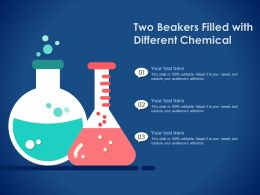 Two Beakers Filled With Different Chemical