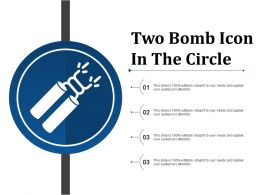 Two Bomb Icon In The Circle
