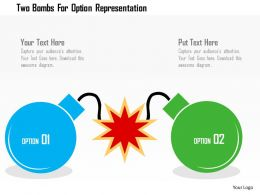 Two Bombs For Option Representation Flat Powerpoint Design