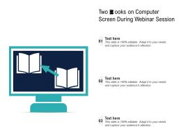 Two Books On Computer Screen During Webinar Session