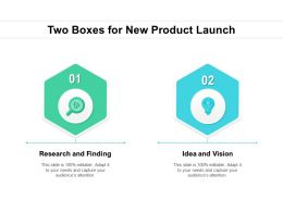 Two Boxes For New Product Launch