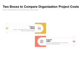 Two Boxes To Compare Organization Project Costs