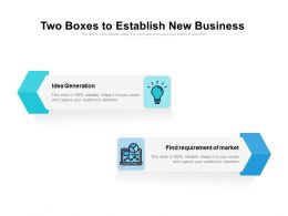 Two Boxes To Establish New Business