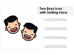 Two Boys Icon With Smiling Face