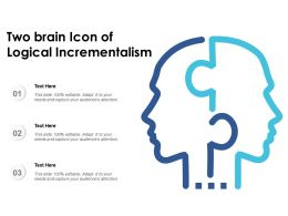 Two Brain Icon Of Logical Incrementalism