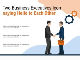 Two Business Executives Icon Saying Hello To Each Other
