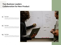 Two Business Leaders Collaboration For New Product
