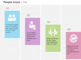 Two Business Men Number One Leader Meeting Team Management Process Ppt Icons Graphics
