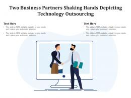 Two Business Partners Shaking Hands Depicting Technology Outsourcing