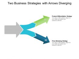 Two Business Strategies With Arrows Diverging