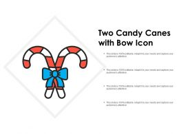 Two Candy Canes With Bow Icon