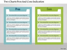 Two Charts Pros And Cons Indication Flat Powerpoint Design