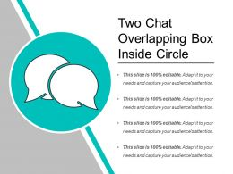 Two Chat Overlapping Box Inside Circle
