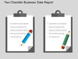 Two Checklist Business Data Report Flat Powerpoint Design