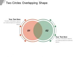 Two Circles Overlapping Shape