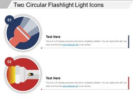 Two Circular Flashlight Light Icons
