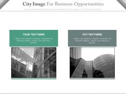 Two City Images For Business Opportunities Powerpoint Slides