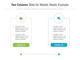 Two Columns Slide For Market Needs Example Infographic Template