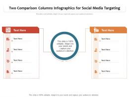 Two Comparison Columns Infographics For Social Media Targeting Infographic Template