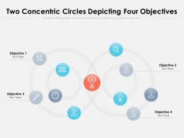 Two Concentric Circles Depicting Four Objectives