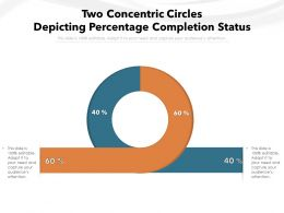 Two Concentric Circles Depicting Percentage Completion Status