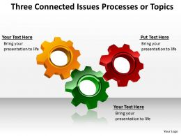 two connected issues processes or topics powerpoint templates