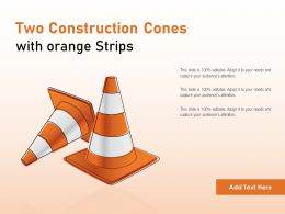 Two Construction Cones With Orange Strips