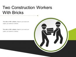Two Construction Workers With Bricks